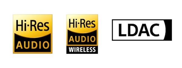Sigle Hi-Res Audio, Hi-Res Audio Wireless și LDAC