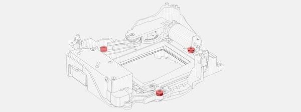 Ilustrație care arată structura internă a camerei